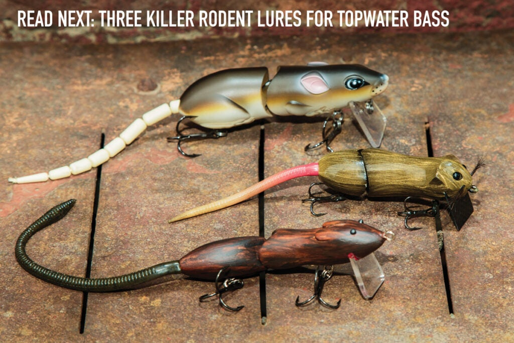 mouse lures, rat lures, bass fishing mouse lures, rodent lures, fishing,