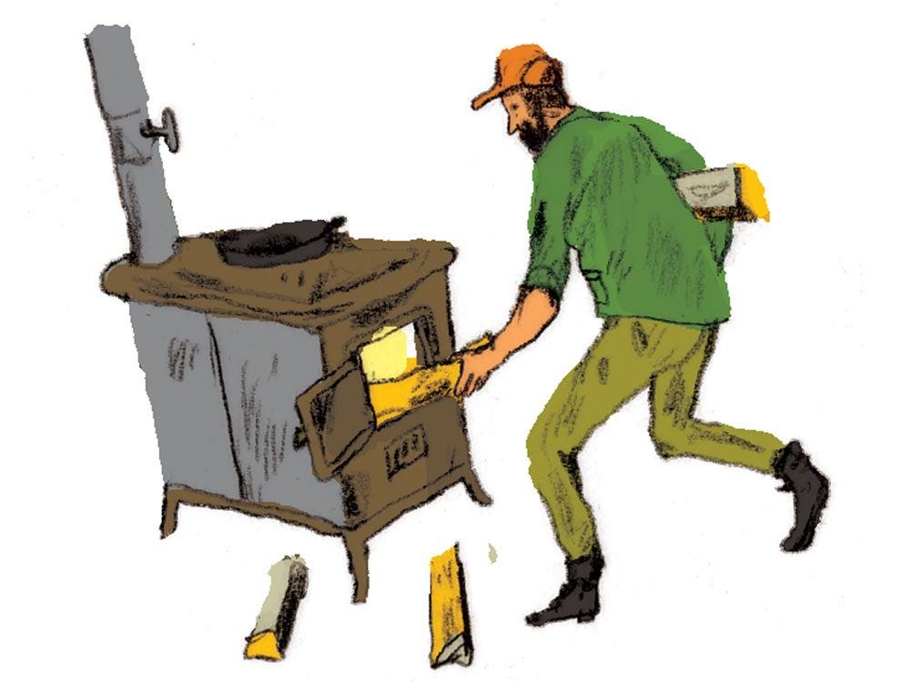 wood stove illustration