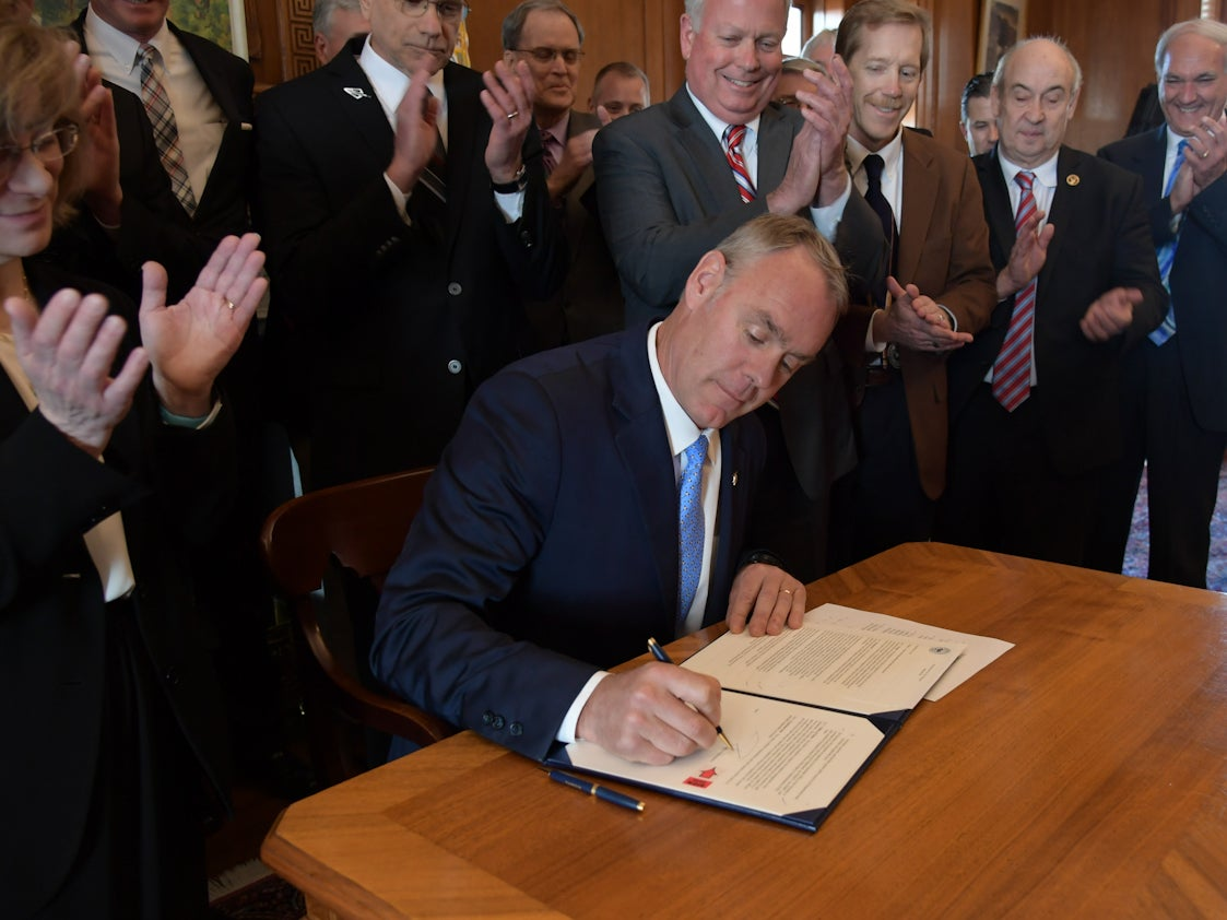 Zinke Comes Out Strong for Sportsmen Day One as Interior Secretary