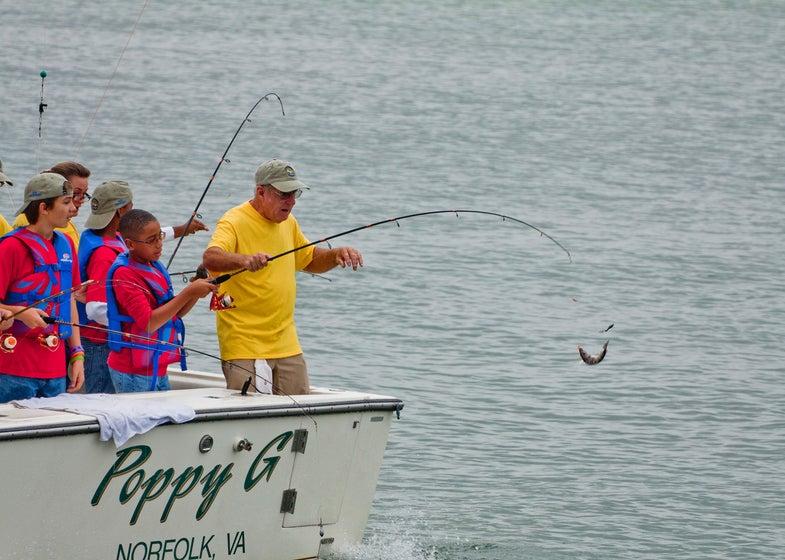 Chesapeake Bay; Boy Scouts; Virginia Sea Grant; 2011 Youth Fishing Adventure