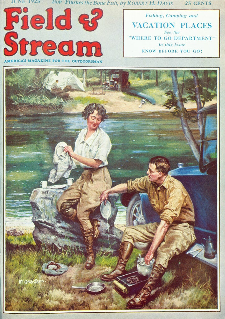 cover, vintage, women, man, beach, sitting, F&S