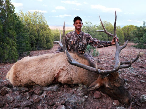 Young Hunter Takes 300-Class Bull Elk with a Muzzleloader in New Mexico