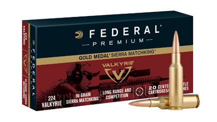a box of .224 Valkyrie ammo from Federal Premium