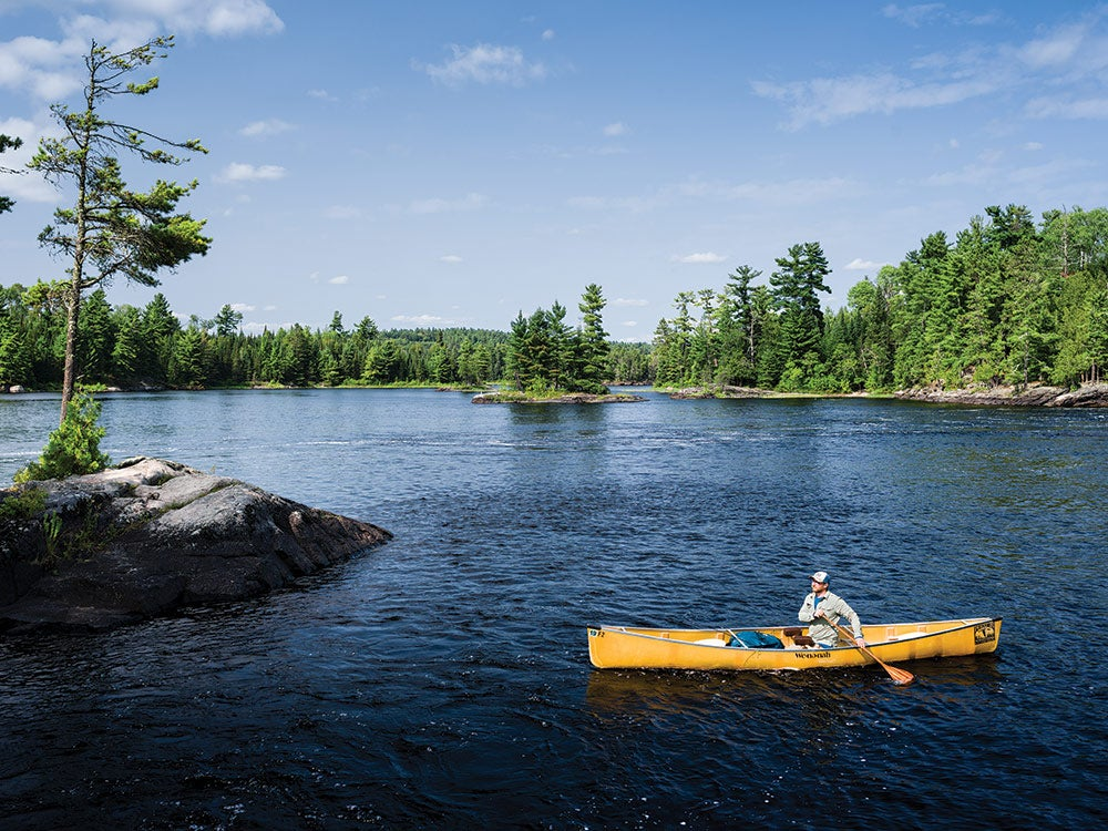 yellow canoe boundary waters canoe area wilderness