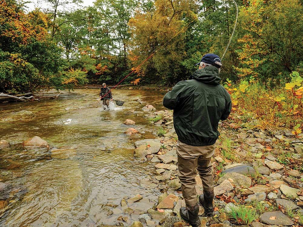 fisherman at Twenty Mile Creek