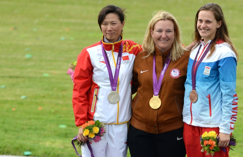 Kim Rhode Wins Gold Medal at Women's Skeet, Makes US Olympic Games History with 5 Consecutive Medals