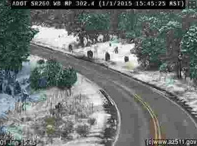 Arizona Dept. of Transportation Has Fun with Traffic-Cam Shot of 'Bigfoot Family'