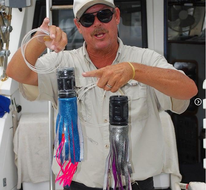 671 Pounds of Blue Marlin On A Gatorade Bottle