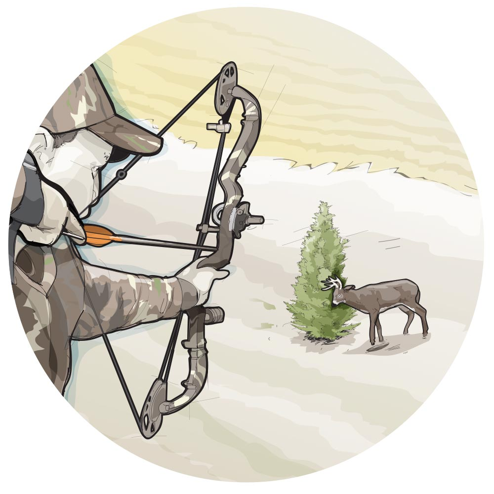 Plant a tree for deer hunting