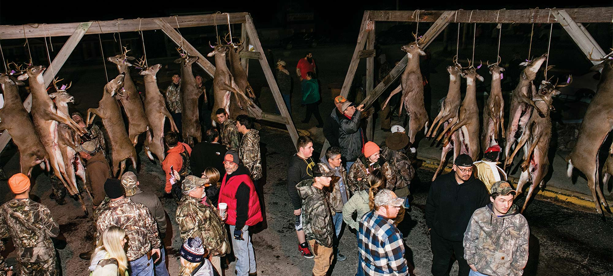 The Buck Pole gathering in Indian River