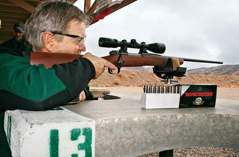 sighting in deer rifle