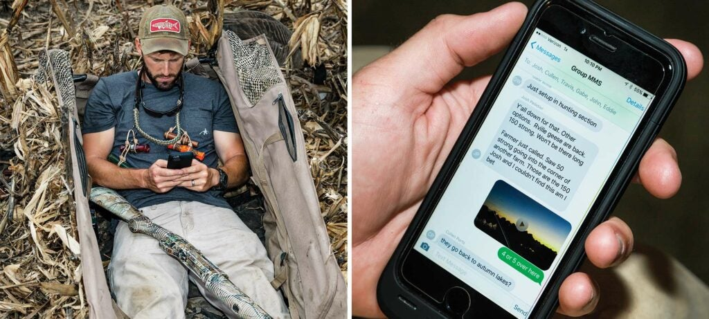 canadian geese bird hunting buddies group texting