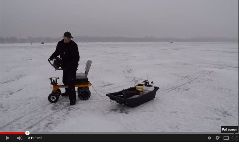 Power This Go-Kart With Your Auger Motor And Stop Dragging Gear Sleds By Hand