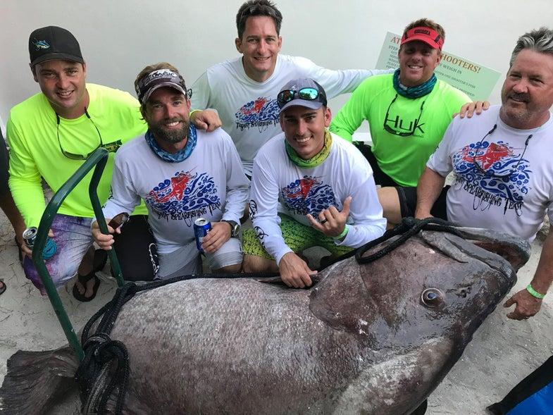 Florida Man Spears 409-Pound Grouper