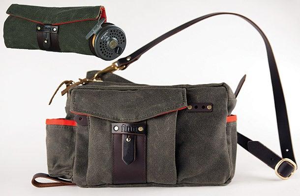 finn utility sidebag reel case fishing