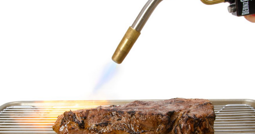 How to Finish a Sous-Vide Venison Steak with a Blowtorch