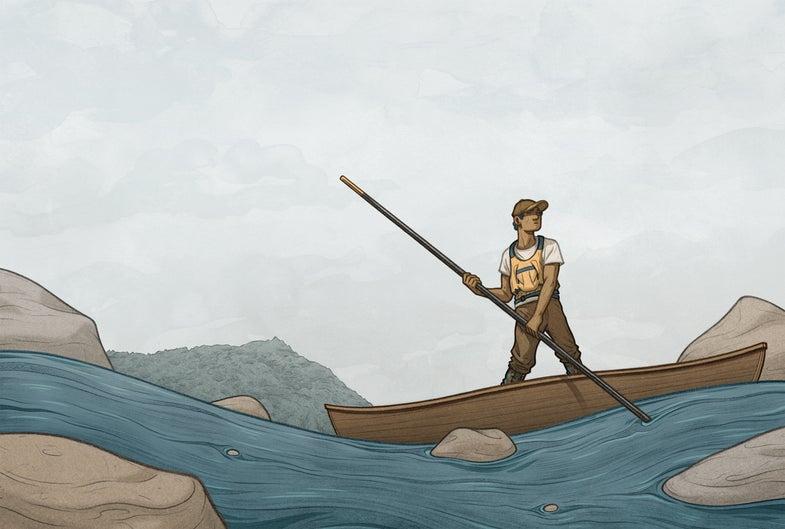 boating, canoeing, canoe, how to pole a canoe,