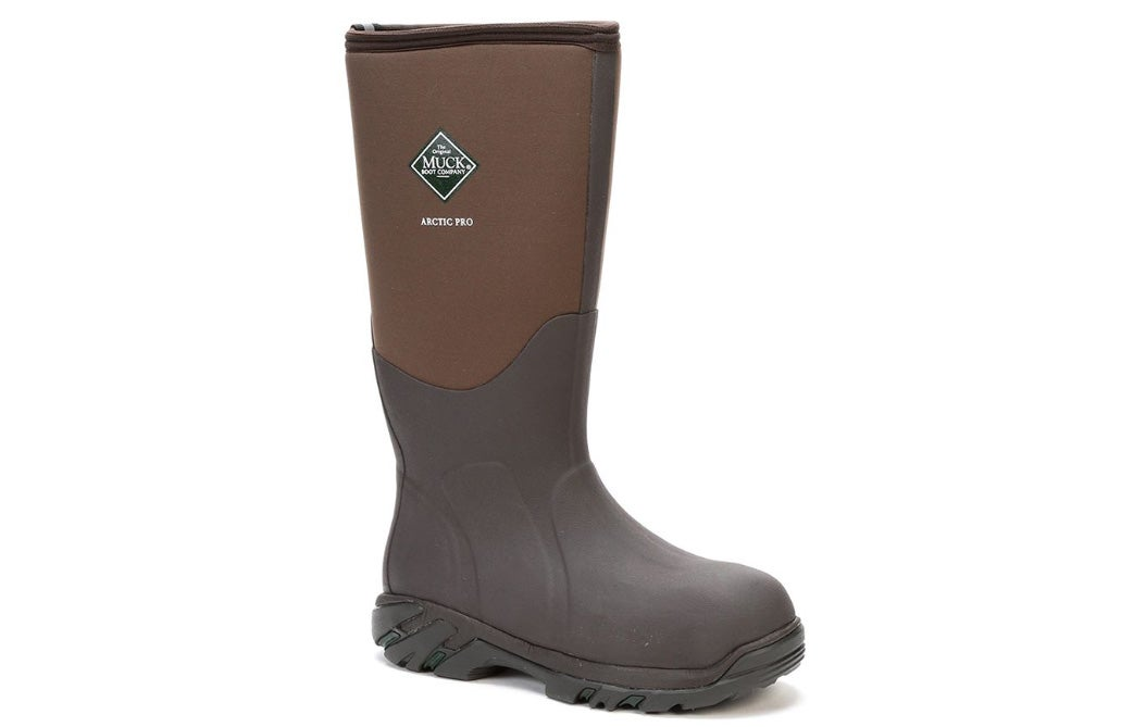 muck boot arctic pro, brown, waterproof, insulated