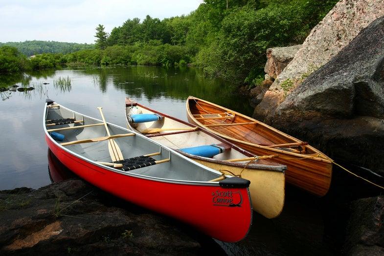 Canada lake, Kawartha Highlands Park, Ontario, Canoes
