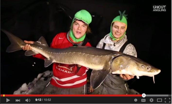 Wicked Sturgeon Fishing Through The Ice
