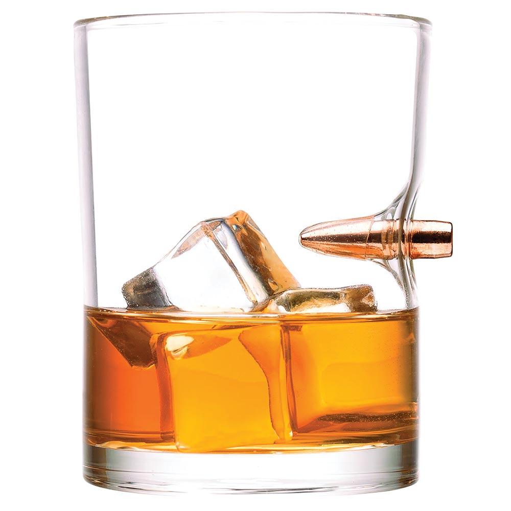 Lucky Shot .308 Real Bullet Whiskey Glass