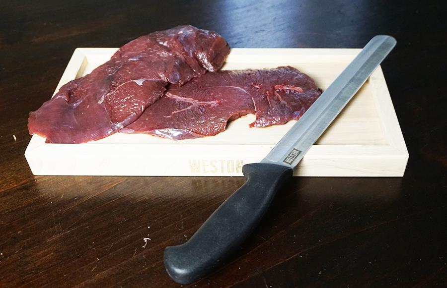 meat, jerky, wild-game jerky, making your own jerky, board