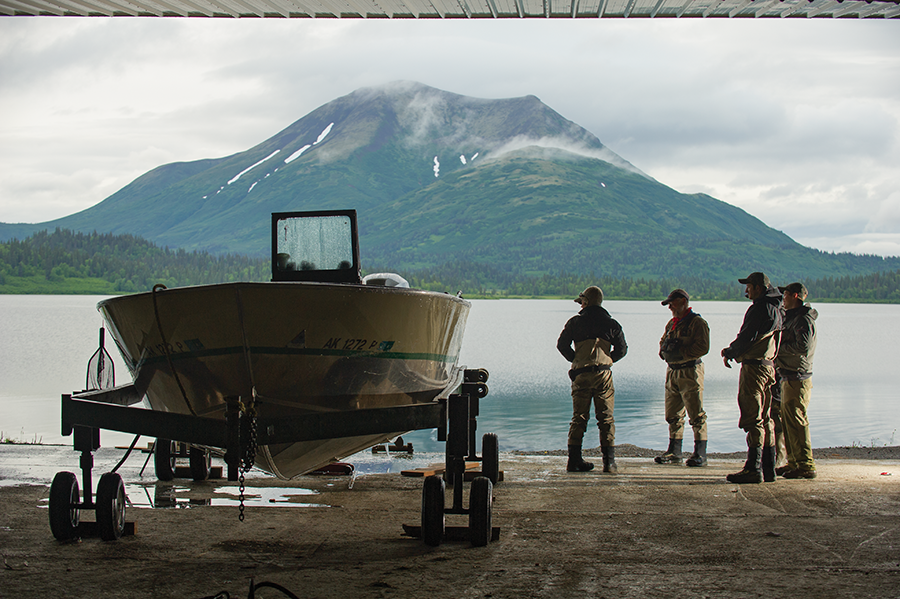A crew waits to hit Bristol Bay.