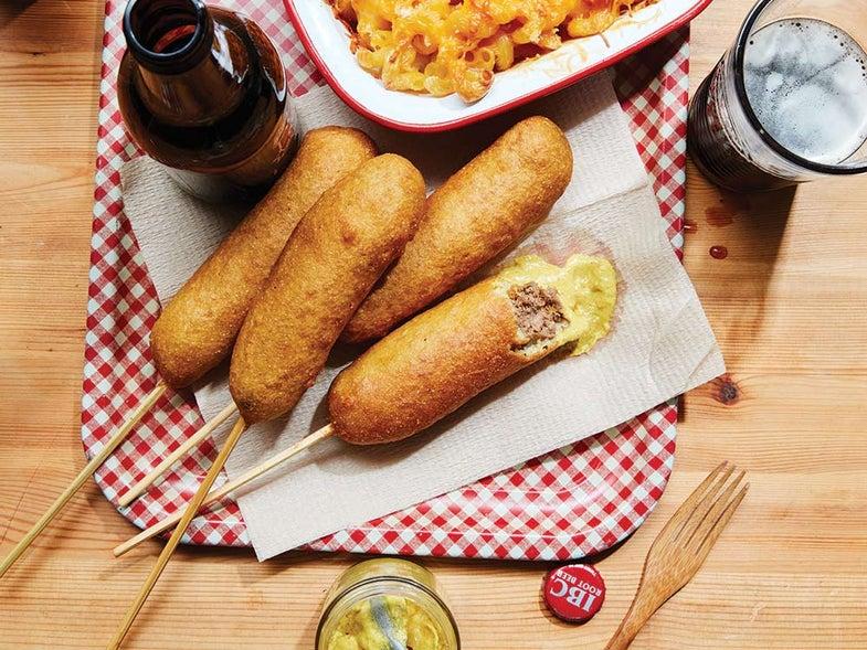 fried venison sausage corn dorgs recipe
