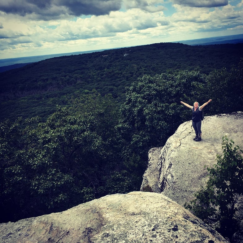 Emma Heavey, father-daughter hike, Adirondacks, summer