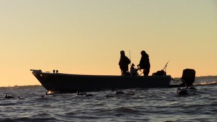 sea duck, boat, hunting, sea duck boat, project,
