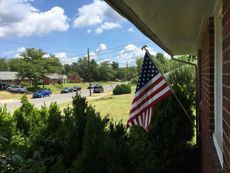 american flag, fourth of july, suburbs