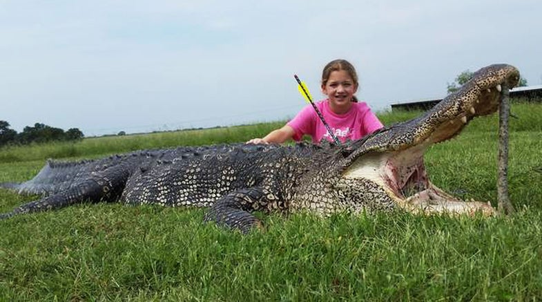 Texas 10-Year-Old Harvests 800-Pound Gator with Crossbow