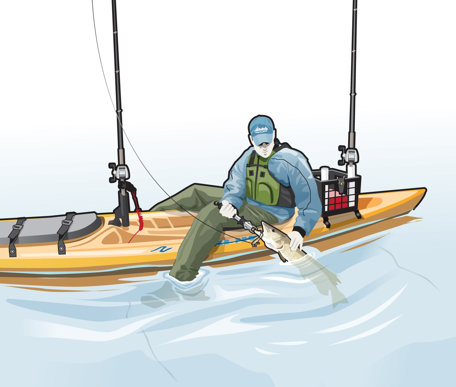 How To Land Pike Or Muskie When Fishing From A Kayak