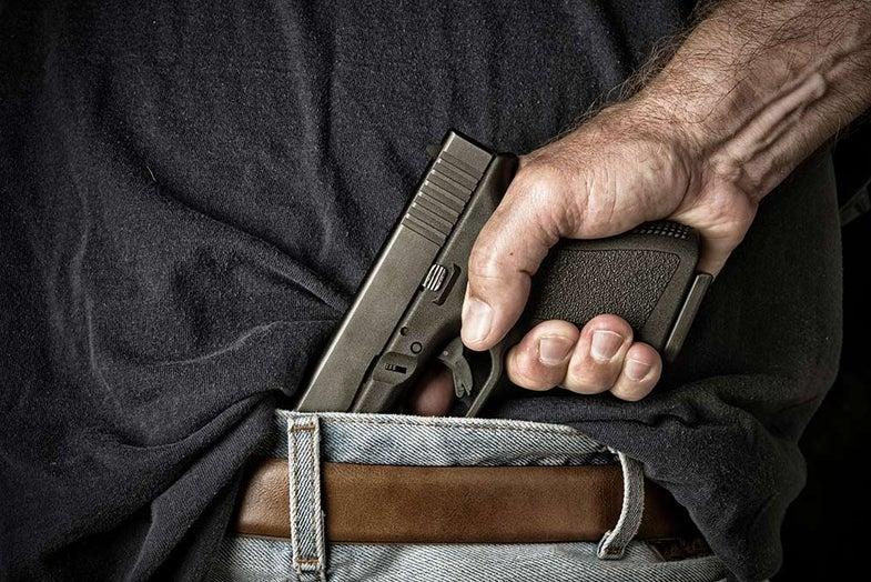 concealed carry handgun in waist band