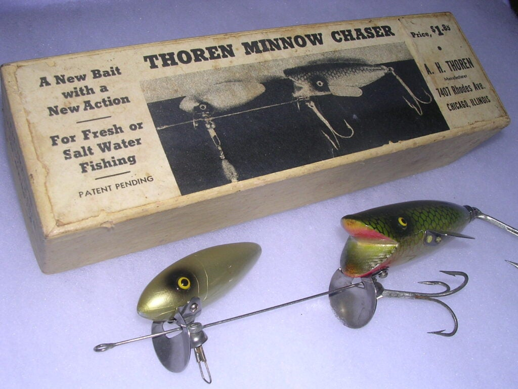 The Thoren Minnow Chaser was designed to mimic a fish chasing a fish.