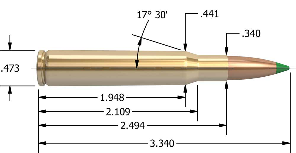 30 06 springfield ammo diagram