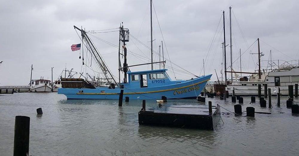 hurricane shrimp boat