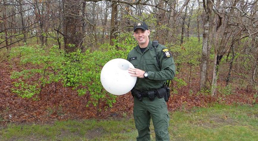 deer rescue, deer stuck in light, deer, plastic light globe,