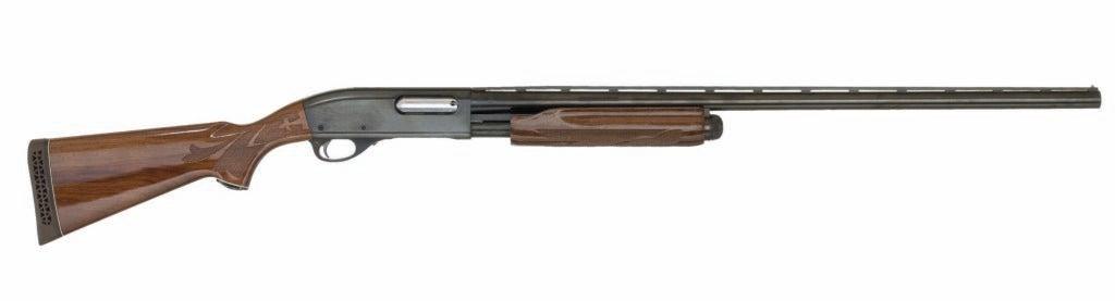 The Remington 870 Wingmaster on a white background.