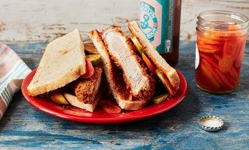 How to Fry Wild Hog Tonkatsu Sandwiches