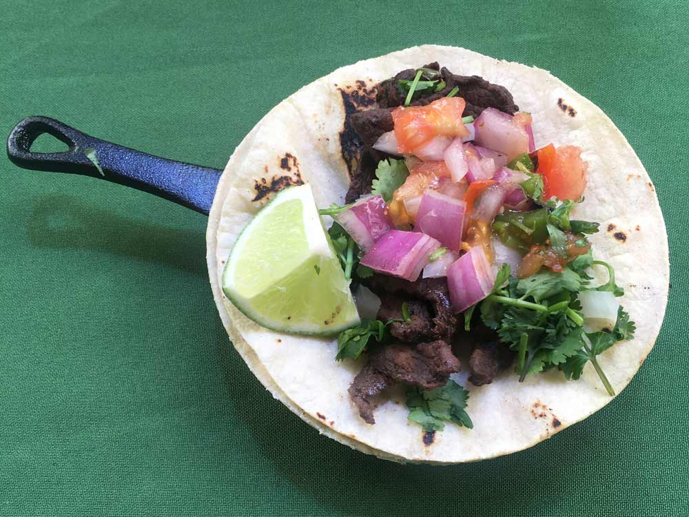 elk carne asada tacos