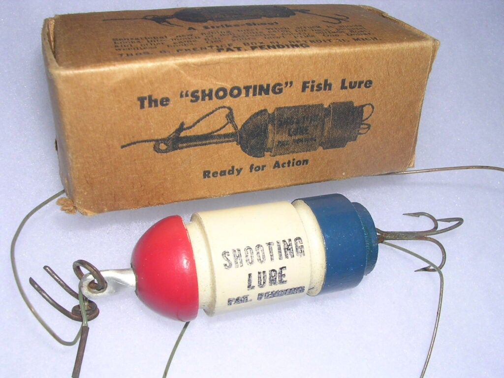 The Shooting Lure was painted a patriotic red, white and blue!