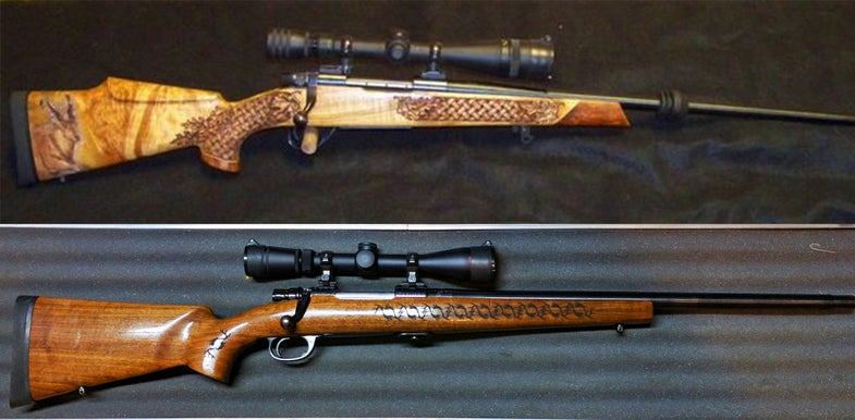 rifles, gunfight friday, carved rifles, .30 cals, shooting,