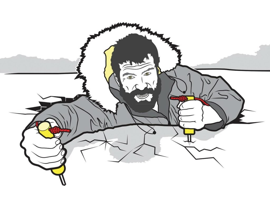survive a fall through ice, survival tips, wisconsin camping, ice fall