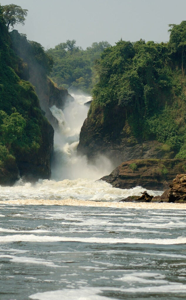 The falls near Smith's fishing spot