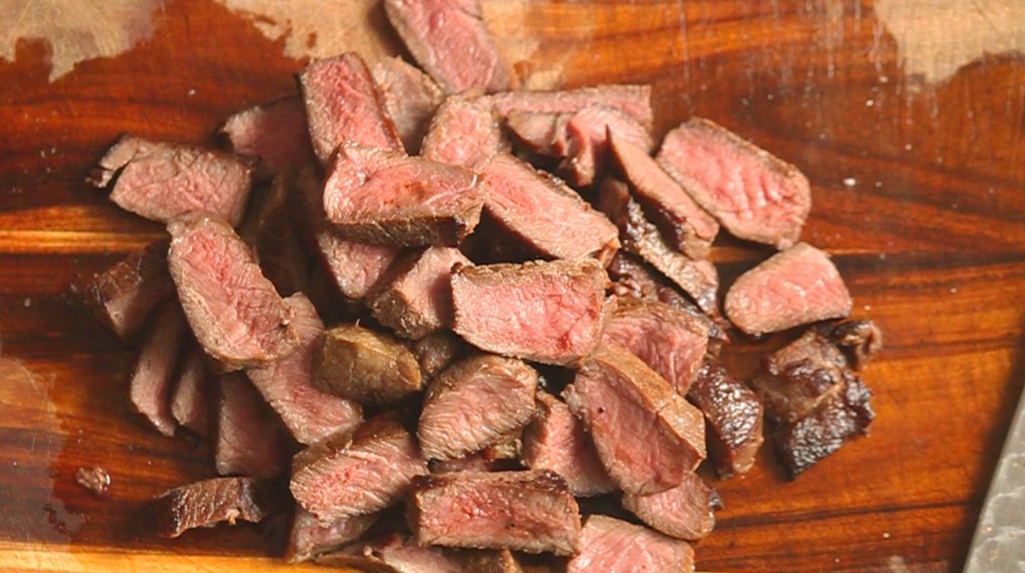elk steak,