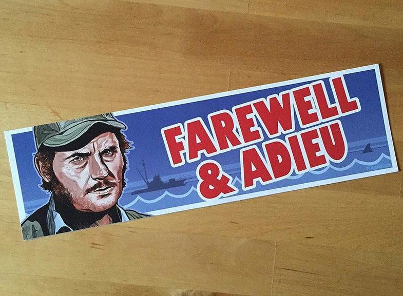 Jaws Farewell & Adieu Bumper Sticker