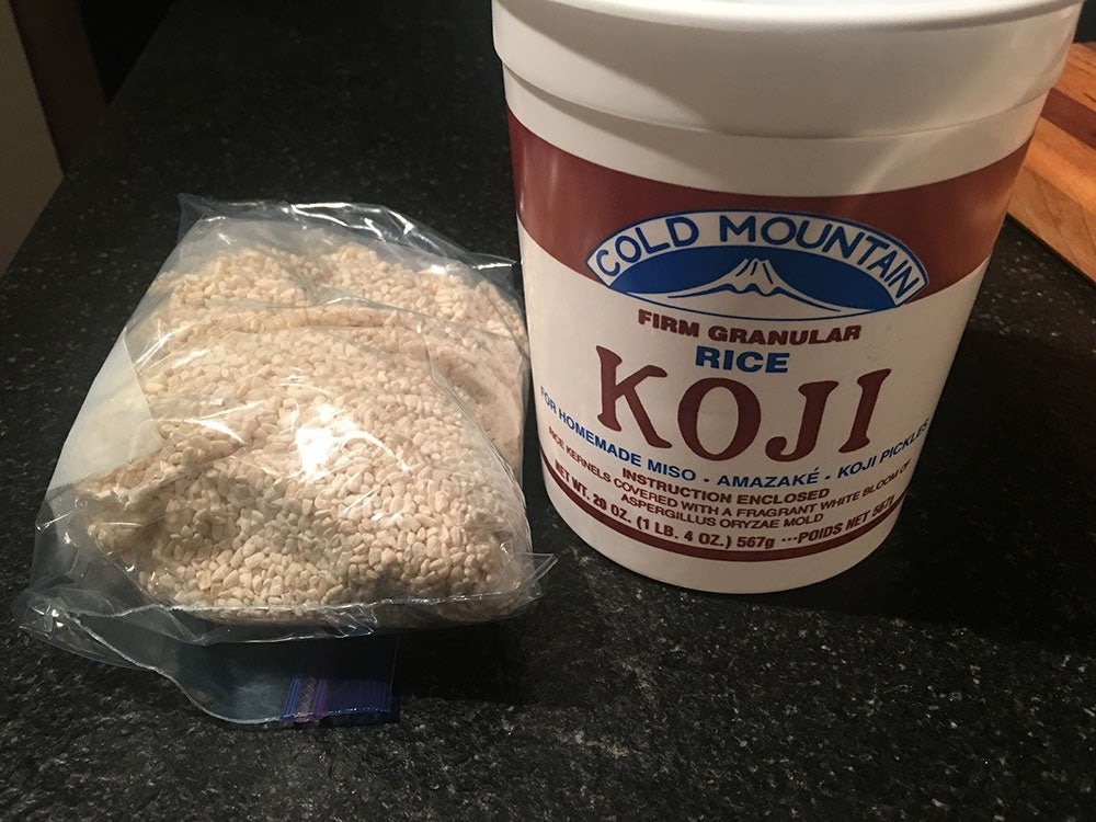 Koji rice for dry-aged steaks