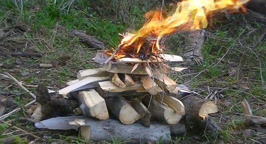 How to Build an Upside Down Fire