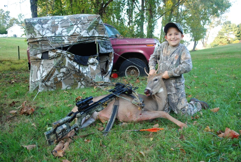 "F&S ""Wild Child"" Kills His First Crossbow Buck"